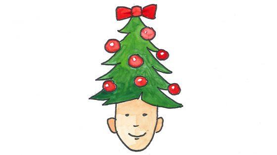 Von Geburt an einen Baum auf dem Kopf: Neue Möglichkeiten für Weihnachtsdeko.