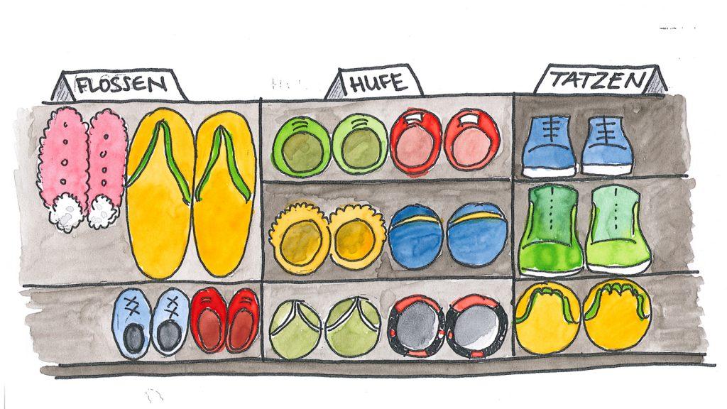 Schuhe kaufen und verkaufen wäre komplizierter